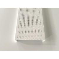 Wholesale White Powder Coated Aluminium Strip Ceiling , C- shaped Sheet Metal Ceiling from china suppliers