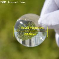China High quality and best price round shape outer diameter 50mm spot fresnel lens acrylic fresnel lens for sale