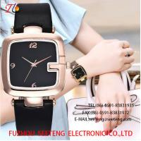 Wholesale WHOLESALE PU STRAP ALLOY CASE QUARTZ WATCHES SQUARE CASE from china suppliers