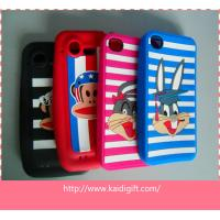 China Eco-Friendly Silicone Cell Phone Cases Colorful With Cartoon Style on sale