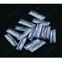 Wuzhou CZ gems synthetic lavender loose cubic zirconia stone for sale