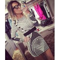 China Sexy Foil Print Bodycon Dress Long Sleeve For Party / Club / Celebrity for sale
