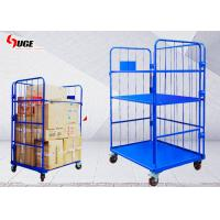 Foldable Work Cargo Transport Metal Cage Trolley 1100*800*1700MM for sale