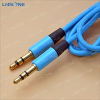 Wholesale Gold plated Blue color 3ft 3.5mm XLR cable from china suppliers