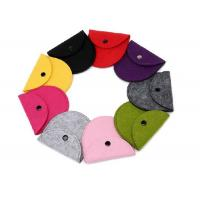 Wholesale 43 Kinds Of Color Handmade Felt Coin Bags 11.5*9.5 Cm Small Felt Bags from china suppliers