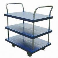 Wholesale 3-layer Platform Hand Trucks with Double Side Handle, OEM Orders are Welcome from china suppliers