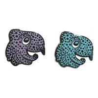 China Nickel Plating Hard Enamel Lapel Pins Rubber Clutch Attachment With Cute Octopus on sale