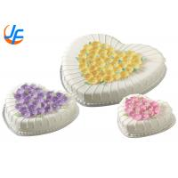 Wholesale alloey cake mould Decorator 4 Piece Heart Shaped Cake Pan Set Preferred pan from china suppliers
