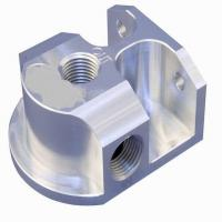 Wholesale OEM High Precision CNC Machining Billet Aluminum Remote Oil Filter Mount from china suppliers