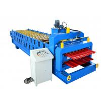 Buy cheap Double Layer Tile Glazed Panel Color Steel Roof Sheet Roll Forming Machine CE from wholesalers