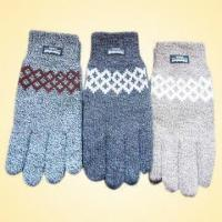 Wholesale Acrylic Knitted Jacquard Glove with Thinsulate Lining from china suppliers