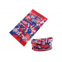 UV Buff Headwear Red Blue Color With Size 25*50 CM Polyester Scarf