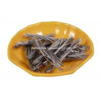 China Copolymer Polypropylene Macro Synthetic Fiber 48mm / 54mm Length 500 - 800MPA Tensile Strength for sale