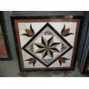 Flowers Pattern Marble Waterjet Medallion Floor Tiles Rectangular Marble Medallion Pattern for sale