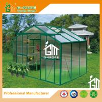 Buy cheap Green Color Aluminum Polycarbonate Vegetable Planthouse With Gutter - 6'x8'x6.7 from wholesalers