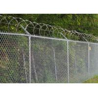 Wholesale Chain Link Fence Top With Barbed Wire Or Razor Wire In High Security from china suppliers