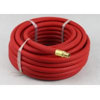Best Red Rubber Air Hose with BSP Or NPT Fittings , Rubber Air Line BP 900 / 1200 Psi wholesale
