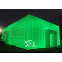 Wholesale 20x11m large cube inflatable wedding party tent with LED lights N movable doors from Sino inflatables from china suppliers