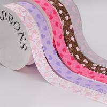 Fancy 1 Inch Grosgrain Ribbon , Pink / Light Purple Custom Printed Ribbon for sale