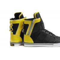Quality Black Supra fashion shoes Justin Men Society high top walking shoes for sale