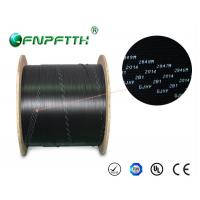 China 3 Steel Wires FTTH Fiber Optic Cable Outdoor , Black fiber optic network cable on sale
