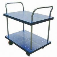 Wholesale Platform Hand Trucks with Double Side Handle and 2 Layers, Measures 900 x 600 x 950mm from china suppliers