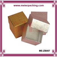 China Metallic Golden/Silver Foil Printed Jewelry Boxes ME-ZB007 for sale