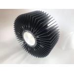 China Big size black anodized aluminum extrusion sunflower heatsink skiving drilling machining for sale
