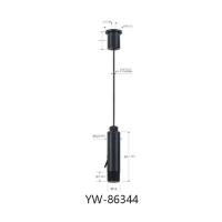 Wholesale Electroplating Matt Black Ceiling Light Cable Suspension Systems YW86344 from china suppliers