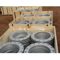China Stainless Steel Welded Vacuum Pipes Fittings Flange with Bolt Hole for sale