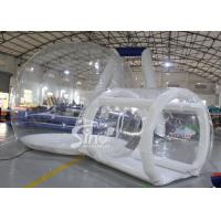 Wholesale 4m Outdoor transparent inflatable camping bubble tent with frame tunnel entrance from china suppliers