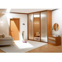 Wholesale Single Nature Teak Wood Composite Door With 90 Degree Open , Inward Opening Direction from china suppliers