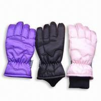 Wholesale Sports Ski Glove, Made of 100% Polyester from china suppliers