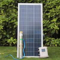 Wholesale 3 Inch Mini 24 Volt 48V MPPT Controller Kits Deep Bore Well Submersible DC Solar Water Pump from china suppliers
