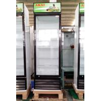 400L Display Volume Upright Glass Door Freezer Air Cooling With LED Advertising Panel for sale