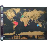 Wholesale Large World Scratch Map Poster with Country Flag Scratch Off - Includes Keychain Scratcher from china suppliers