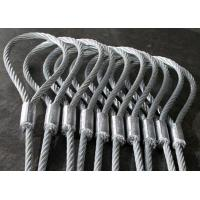 Best Heavy Duty Machine Swaged Soft Loop Wire Rope Slings with Galvanized Surface wholesale