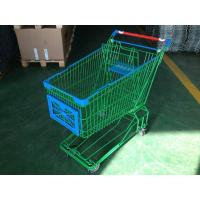 150L Asian Supermaket Wire Shopping Trolley With Swivel Casters