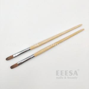 Wholesale Oblique End Burlywood Size #10 Medium Flat Round Oval Kolinsky Gel Nail Brush 300 - 29 from china suppliers