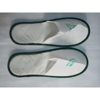 Buy cheap White Non Woven Man / Ladies Bathroom / Hotel Slippers With Cloth Sole from wholesalers