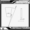 Magnet neodim Arc R101.6 x r50.8 x H6.35mm x 22.5 for sale