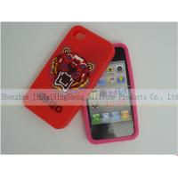China Red 3D Silicone Tiger Silicone Cell Phone Case waterproof For IPhone 4 / 4S on sale