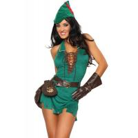 Wholesale Hero Costumes Wholesale Green Velvet Suede Robin D Rich Dress Costume with size S to XXL from china suppliers