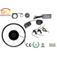 All In One Brushless Geared Hub Motor Kit Electric Bike Parts With Double Wall Alloy Rims