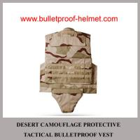 Wholesale Wholesale Cheap China NIJ Army Desert Camo Protective Tactical Bulletproof Vest from china suppliers