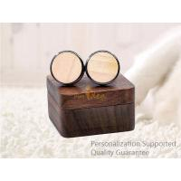 Luxury Men's Accessories Black Walnut Wooden Gift Boxed Cuff Links, Small Order, Quality Guarantee