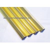 Wholesale Plated Glossy Gold Decorative Aluminum V - Shaped Brace / Angular Splint V15mm / YF15 from china suppliers