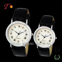 Wholesale Classical Stylish Leather Strap Quartz  Wrist Watches for Lovers/Couple from china suppliers