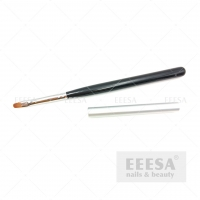 Buy cheap Custom Synthetic Hair Round Oval #4 Black Wood Gel Master Nail Art Brush from wholesalers