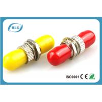 China Red Or Yellow Fiber Optic Connector Adapters With Brozen Sleeve Low Repeatibility on sale